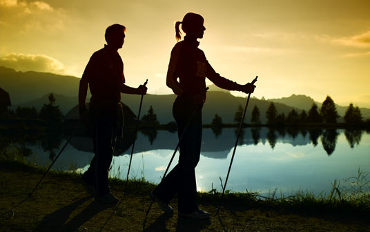 Sport im Wellnesshotel: Nordic Walking