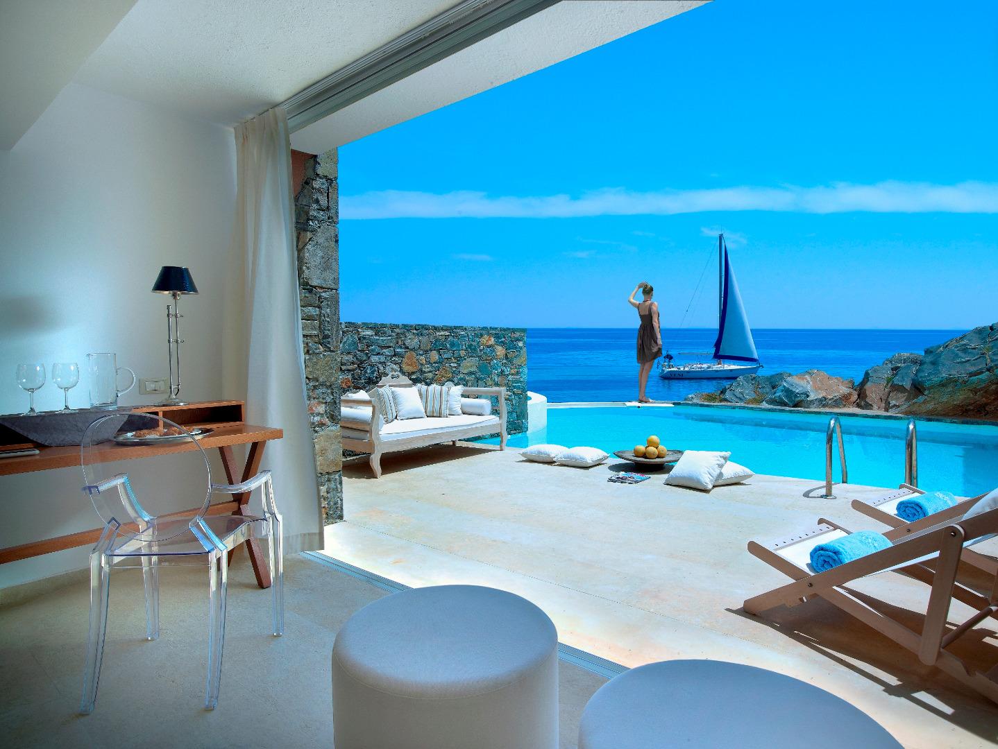 Yoga: Foto vom Wellnesshotel St. Nicolas Bay Resort Hotel & Villas   Wellness Kreta